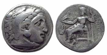 Macedon, Philip III Arrhidaeus, Half-Brother of Alexander the Great, AR Drachm, Kolophon, 323-317 BC