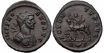 "᷅  <font color=""#FF0000""><b>SOLD</b></font color>: Probus, 276-282 AD, Silvered Antoninianus, Adventus, struck 279 AD"