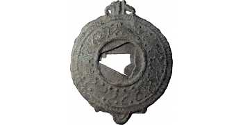 Ancient Roman Lead Ritual Mirror