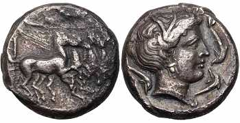 Sicily, Lilybaion, as Cape of Melqart, AR Tetradrachm, c. 330-305 BC, Ex Duke of Cajaniello Collection, Referenced by Jenkins