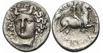Thessaly, Larissa, AR Trihemiobol, Mid to late 4th century BC