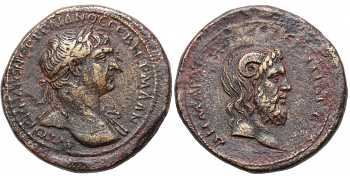 "᷅  <font color=""#FF0000""><b>SOLD</b></font color>: Trajan, AE30, 98-117 AD, Cyrenaica and Crete, Cyrene, Zeus-Ammon, struck 103-111 AD"