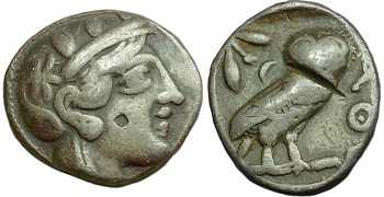 "᷅  <font color=""#FF0000""><b>SOLD</b></font color>: Ancient Athens Tetradrachm"