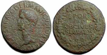 "᷅  <font color=""#FF0000""><b>SOLD</b></font color>: Caligula Sestertius"