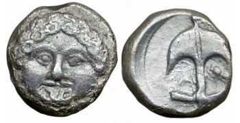 "᷅  <font color=""#FF0000""><b>SOLD</b></font color>: Apollonia Pontica AR drachm NOT LISTED"