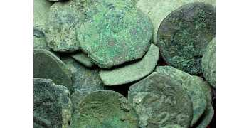 "᷅<font color=""#FF0000""><b>SOLD</b></font color>: Uncleaned Byzantine Coins"
