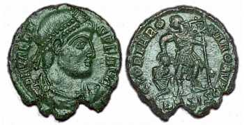 "᷅  <font color=""#FF0000""><b>SOLD</b></font color>: Valens: Ae3 Roman Coin."