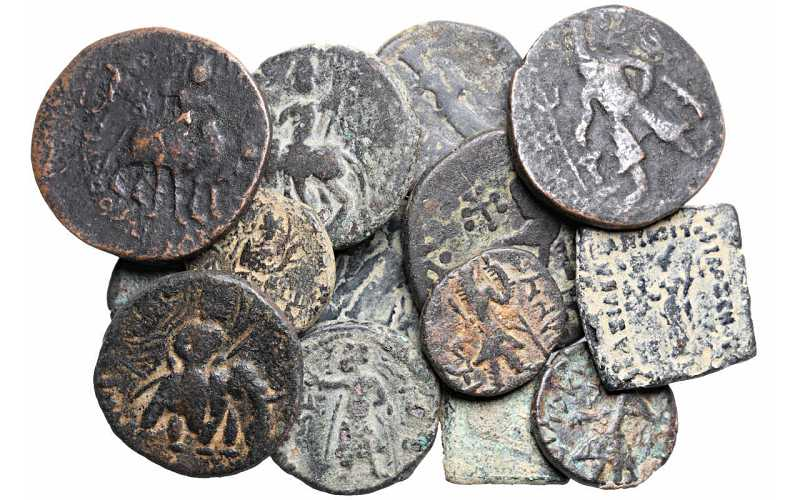 Dealer's Lot of 15 Coins of the Kushan Empire