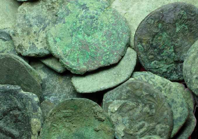 Uncleaned Byzantine Coins